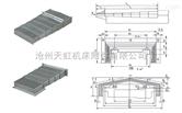 云南台正1060加工中心X轴.Y轴导轨钢板防护罩.机床
