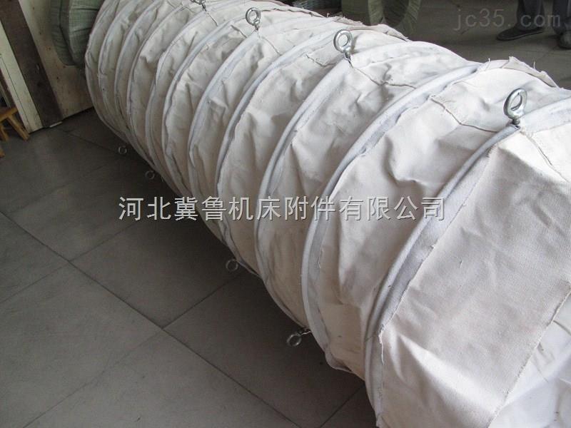 伸缩式双层帆布散装机布袋 帆布筒子式