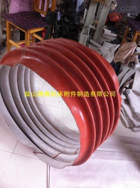 红色硅胶玻璃纤维通风管
