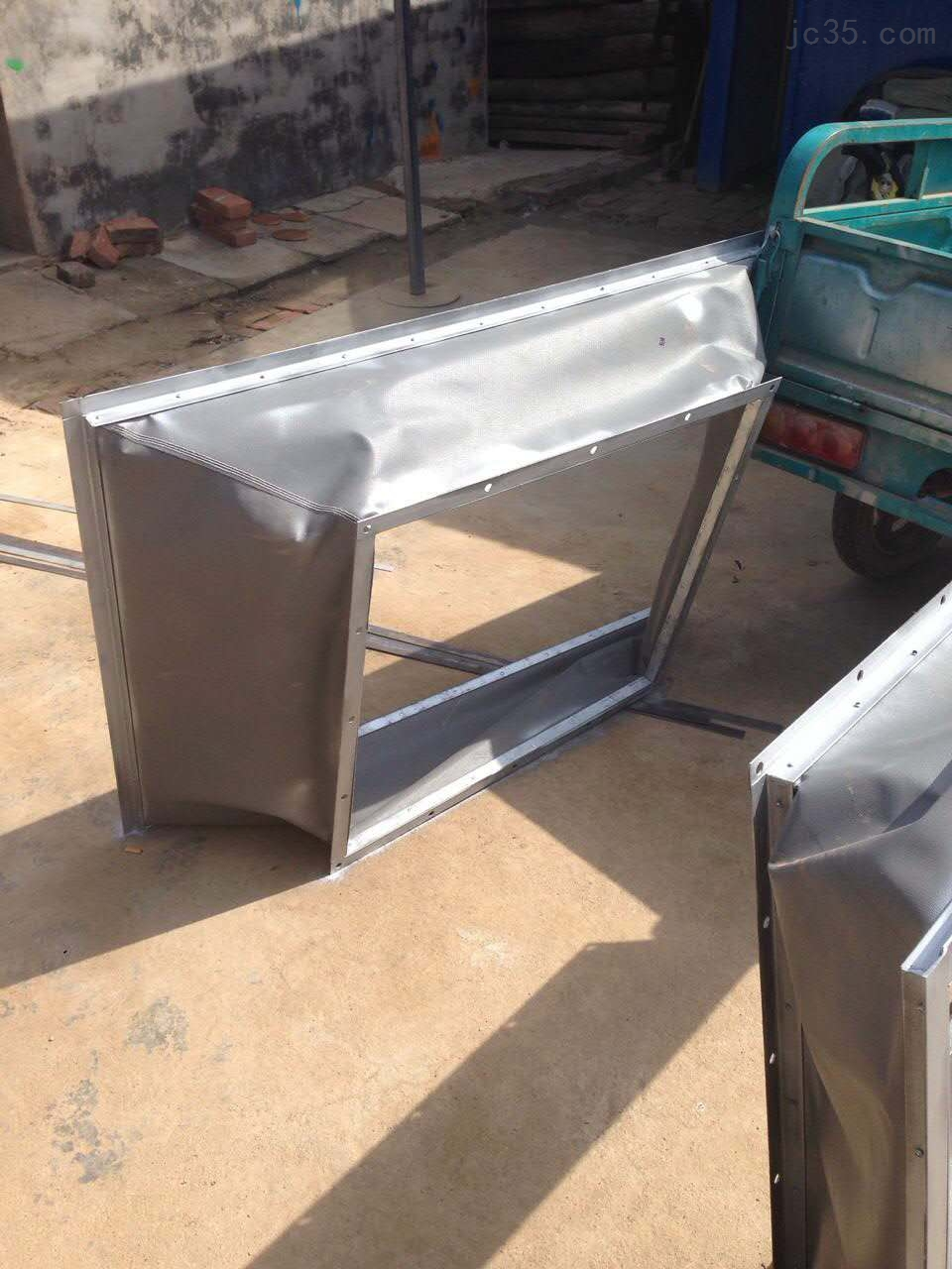不锈钢板防护罩帆布伸缩软连接防水防火软连接