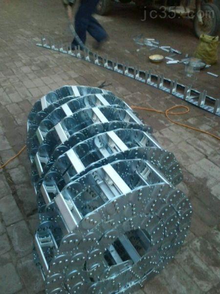 各种型号镀锌封闭式增强行穿线机床钢铝拖链