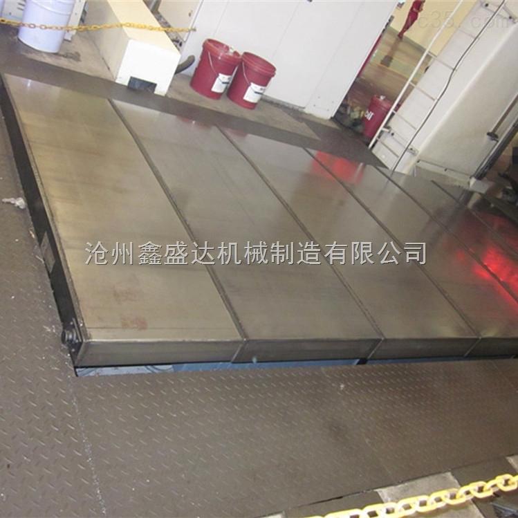 机床防护罩厂家生产加工宁波导轨钢板防护罩 加工中心钢板防护罩-