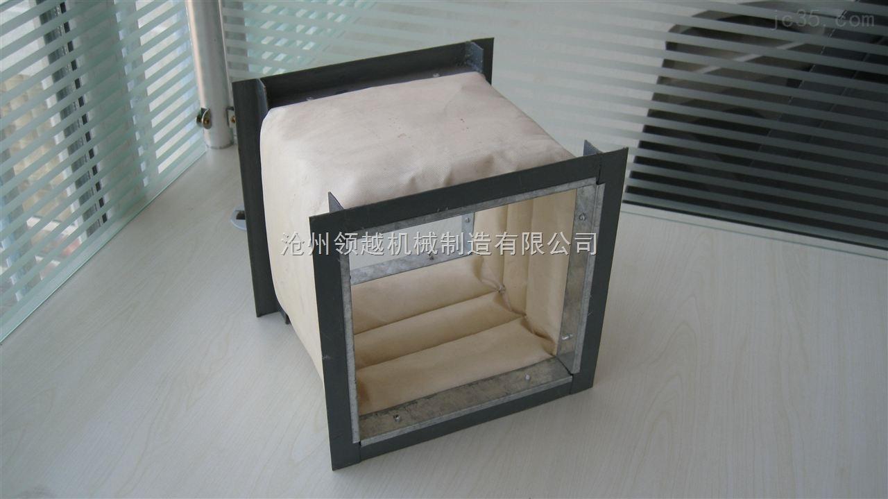 空调专用加厚耐高温帆布软连接方形硅胶软连接