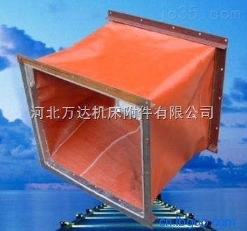 耐磨硅胶伸缩帆布走风软连接