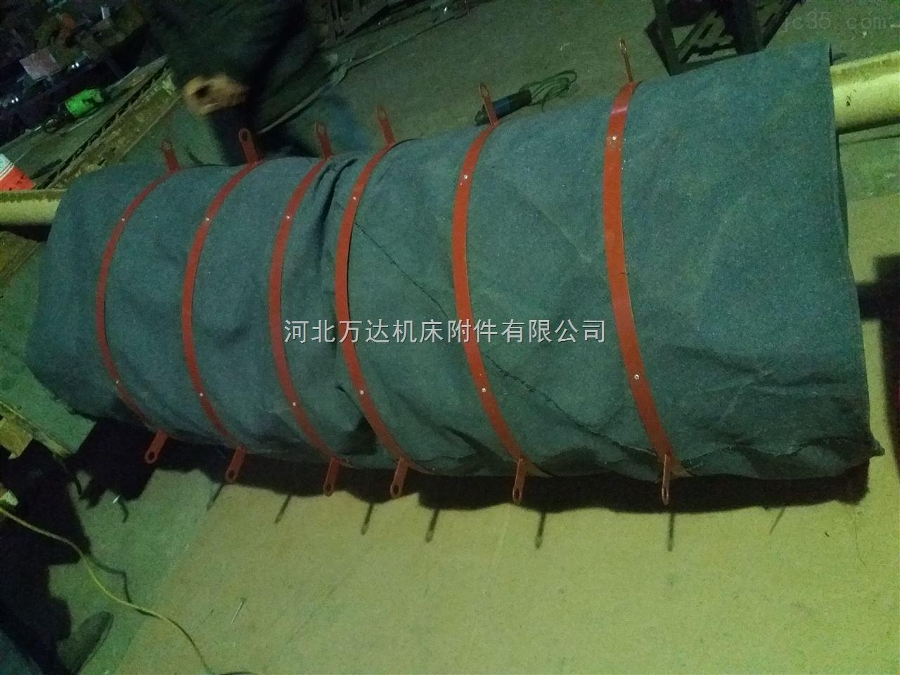 浙江高温线缝制阻燃帆布通风软连接