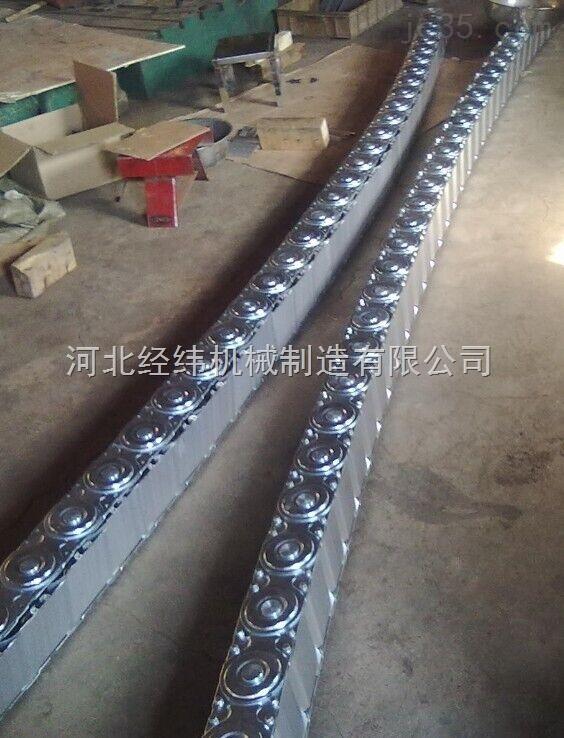 超重运输设备电缆油管钢制拖链 框架式钢铝拖链