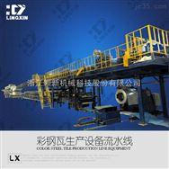 领新聚氨酯彩瓦保温复合板机械设备