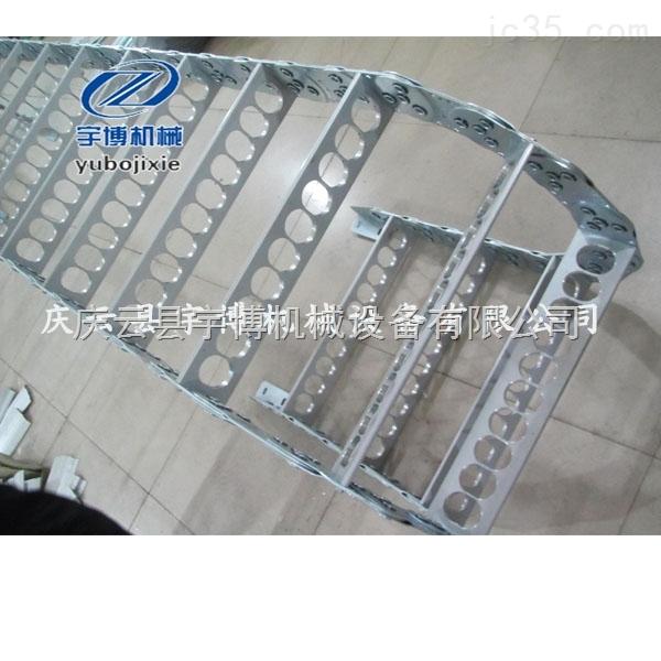 佛山封闭式钢制拖链 工程缆保护金属导链 坦克链拖链