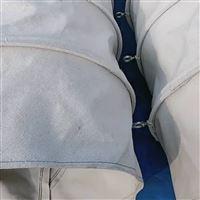 双层白色帆布阻燃风机软连接
