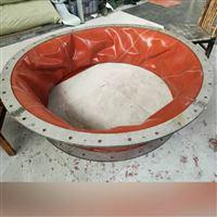 红色环保硅胶布伸缩软连接伸缩布