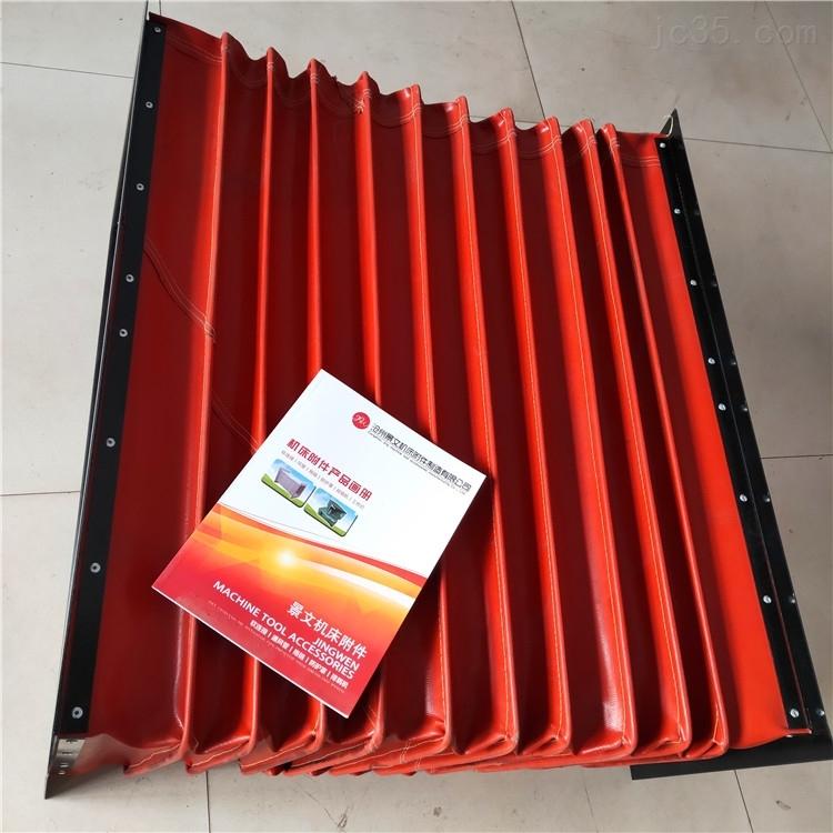 红色硅胶布方形高温除尘软连接报价