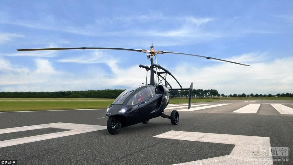 """荷兰研制出""""飞行摩托"""" 时速可达180公里"""
